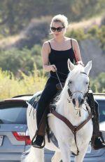 LADY GAGA on a Horse Ride in Malibu 05/23/2016