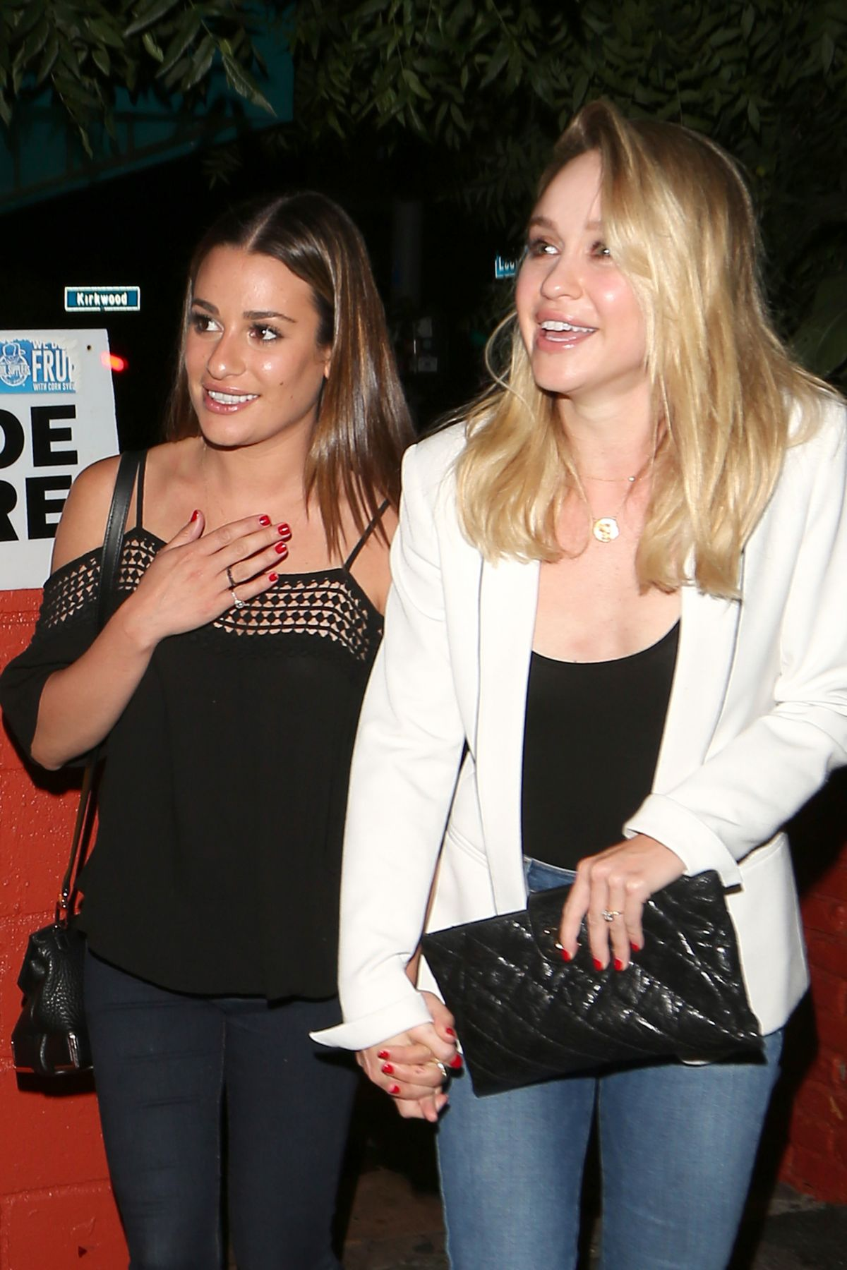 LEA MICHELE and BECCA TOBIN Leaves Pace Restaurant 05/25/2016