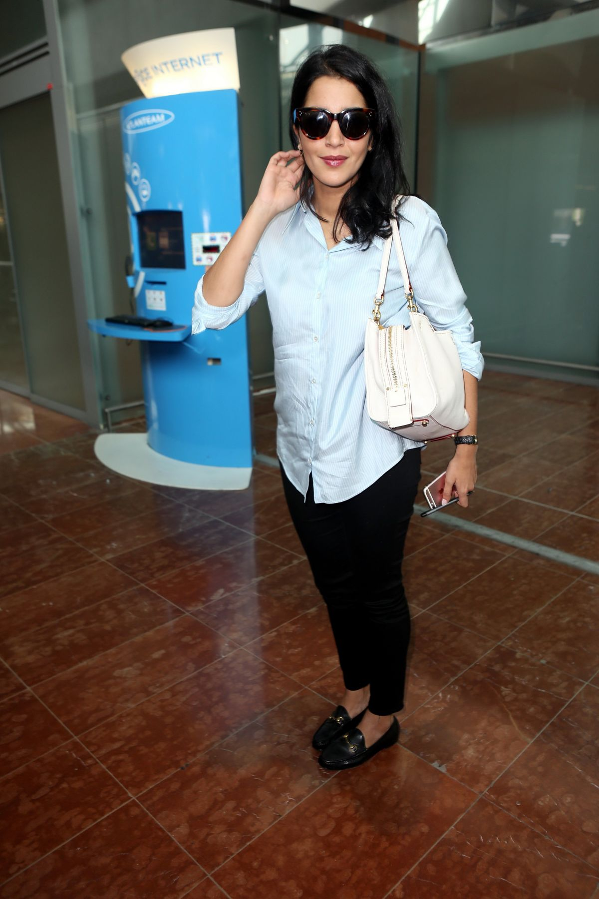 LEILA BEKHTI at Airport in Nice 05/10/2016