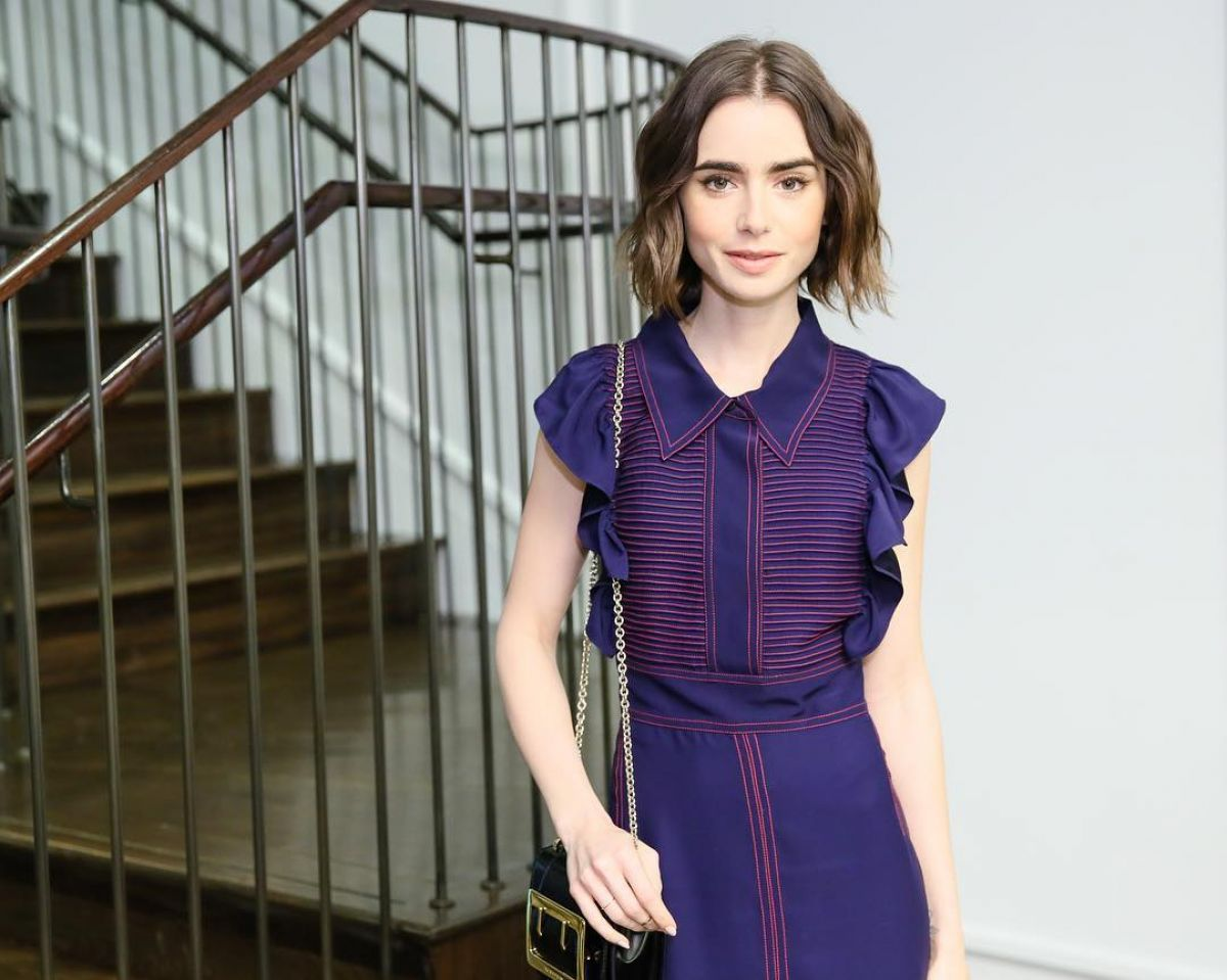 LILY COLLINS at Burberry Party in New York 05/03/2016