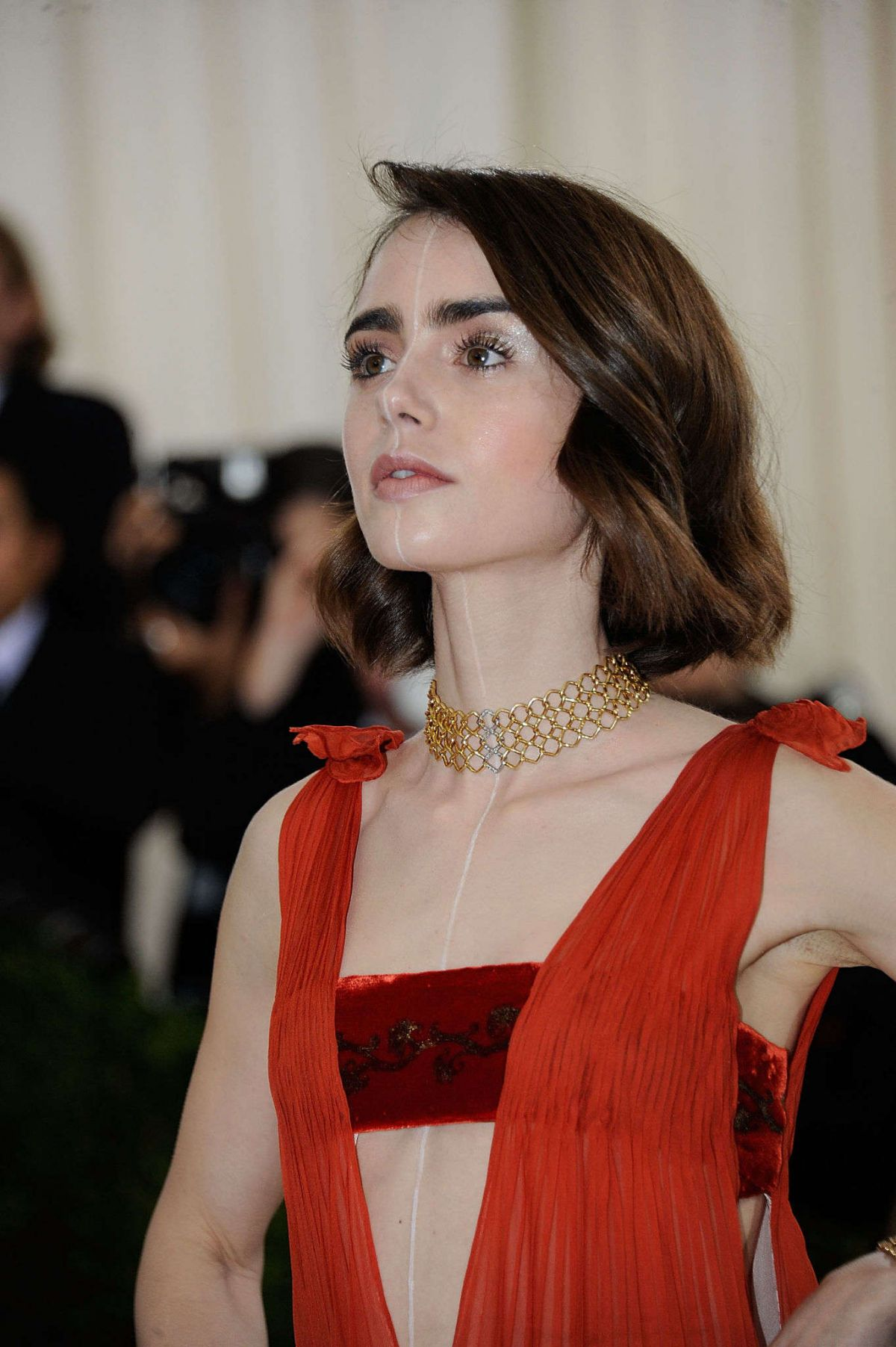 LILY COLLINS at Costum...
