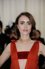LILY COLLINS at Costume Institute Gala 2016 in New York 05/02/2016