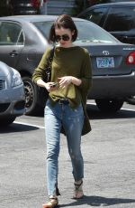 LILY COLLINS Out in Los Angeles 04/29/2016