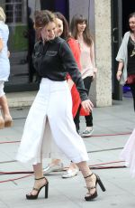 LILY JAMES Arrives at