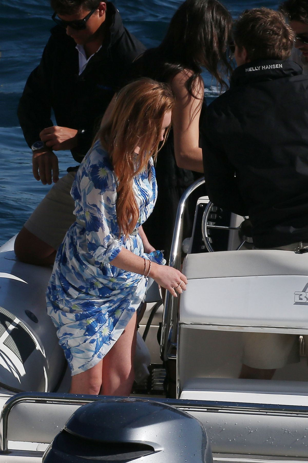 LINDSAY LOHAN Leaves Eden Roc Hotel in Antibes 05/21/2016