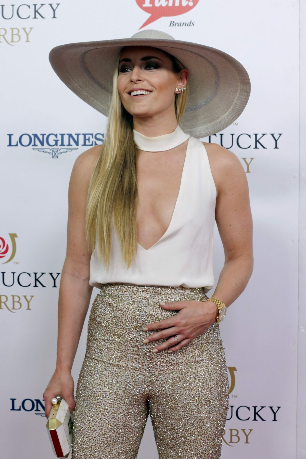 LINDSEY VONN at 142nd Kentucky Derby at Churchill Downs in Louisville 05/07/2016