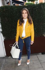 LOUISE THOMPSON at Aya Silk Launch Party in London 05/20/2016