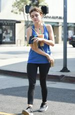 LUCY HALE Out and About in Los Angeles 05/13/2016
