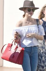 LUCY HALE Out in Los Angeles 05/27/2016