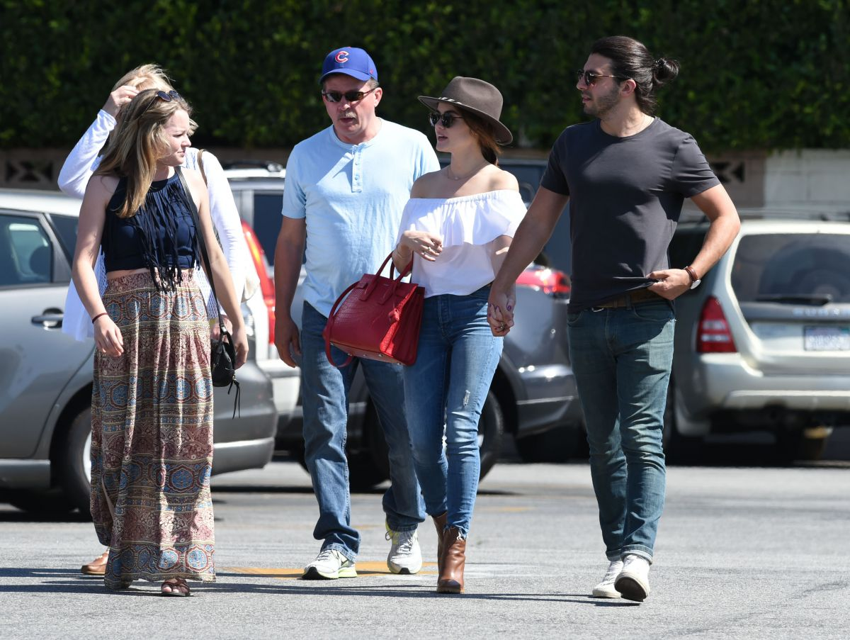 LUCY HALE Out Shopping with Her Family in Los Angeles 05/27/2016