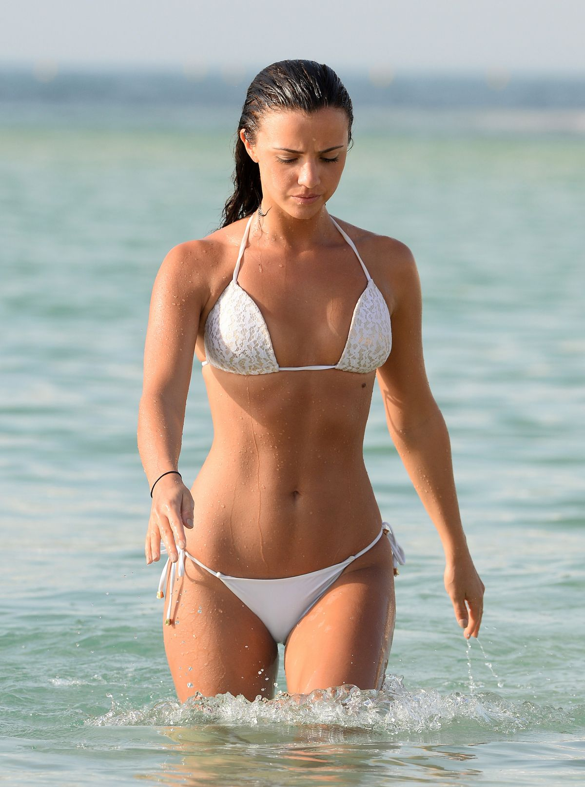 LUCY MECKLENBURGH in Bikini at a Beach in Dubai, April 2016