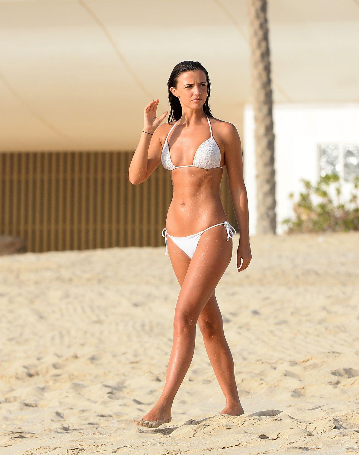 LUCY MECKLENBURGH in Bikini at a Beach in Dubai, April 2016 - HawtCelebs