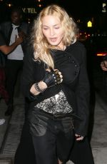 MADONNA Arrives at Dirty fFrench Restaurant in New York 05/07/2016