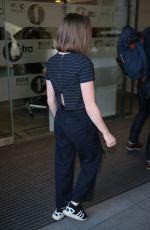 MAISIE WILLIAMS Arrives at BBC Radio 1 Studios in London 05/05/2016