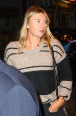 MARIA SHARAPOVA Arrives at Broadway in New York 04/30/2016