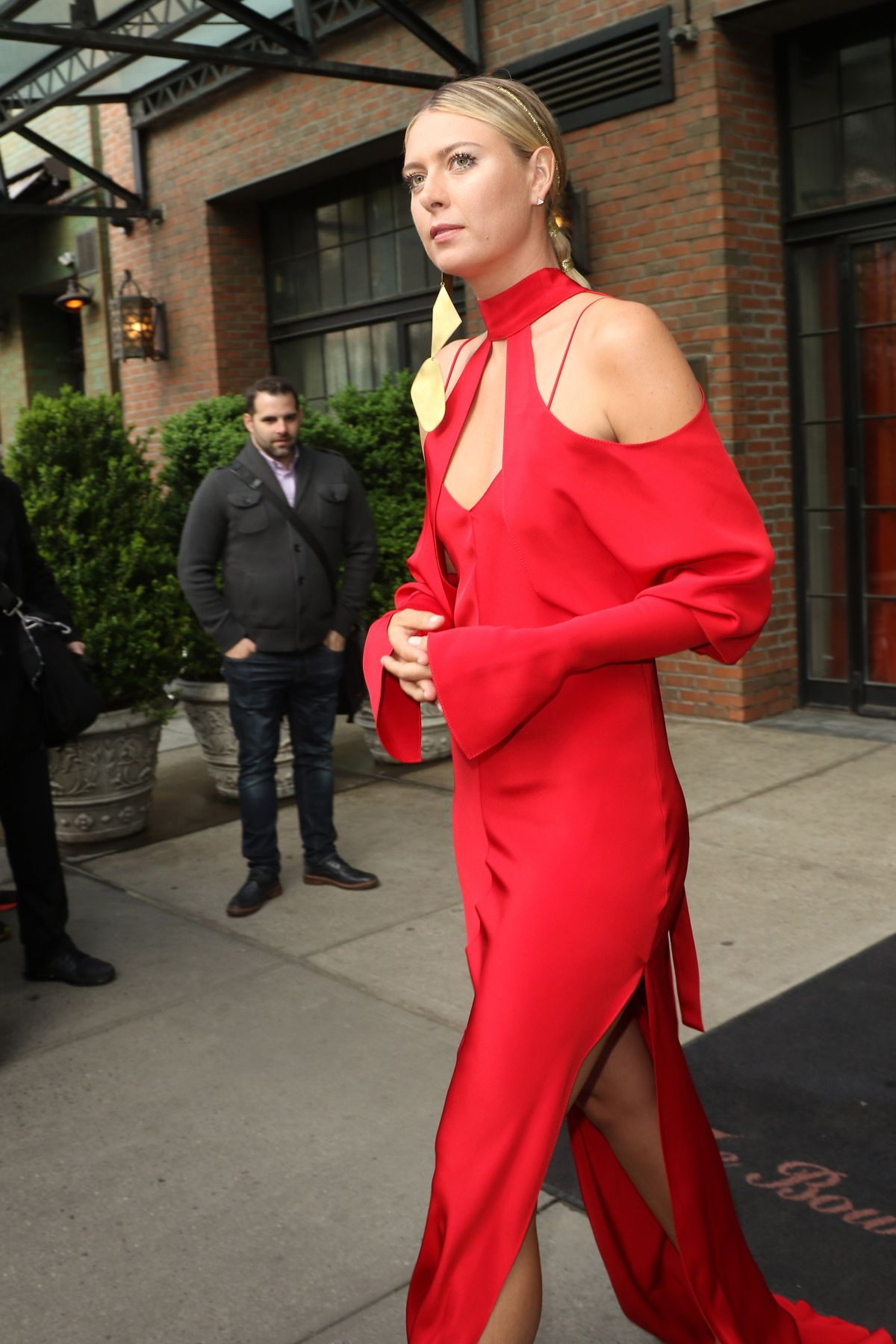 MARIA SHARAPOVA Leaves Bowery Hotel in New York 05/02/2016