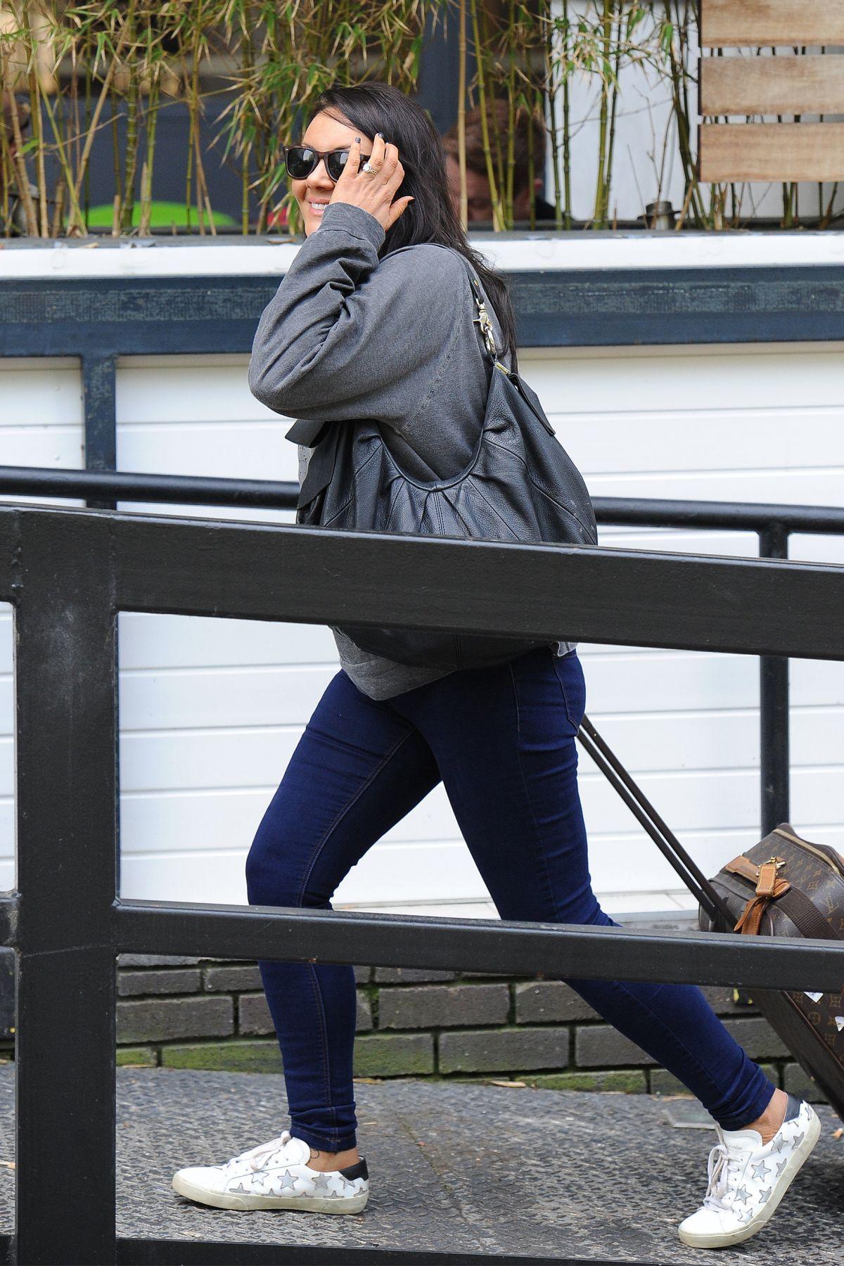 MARTINE MCCUTCHEON Arrives at ITV Studios in London 05/12/2016