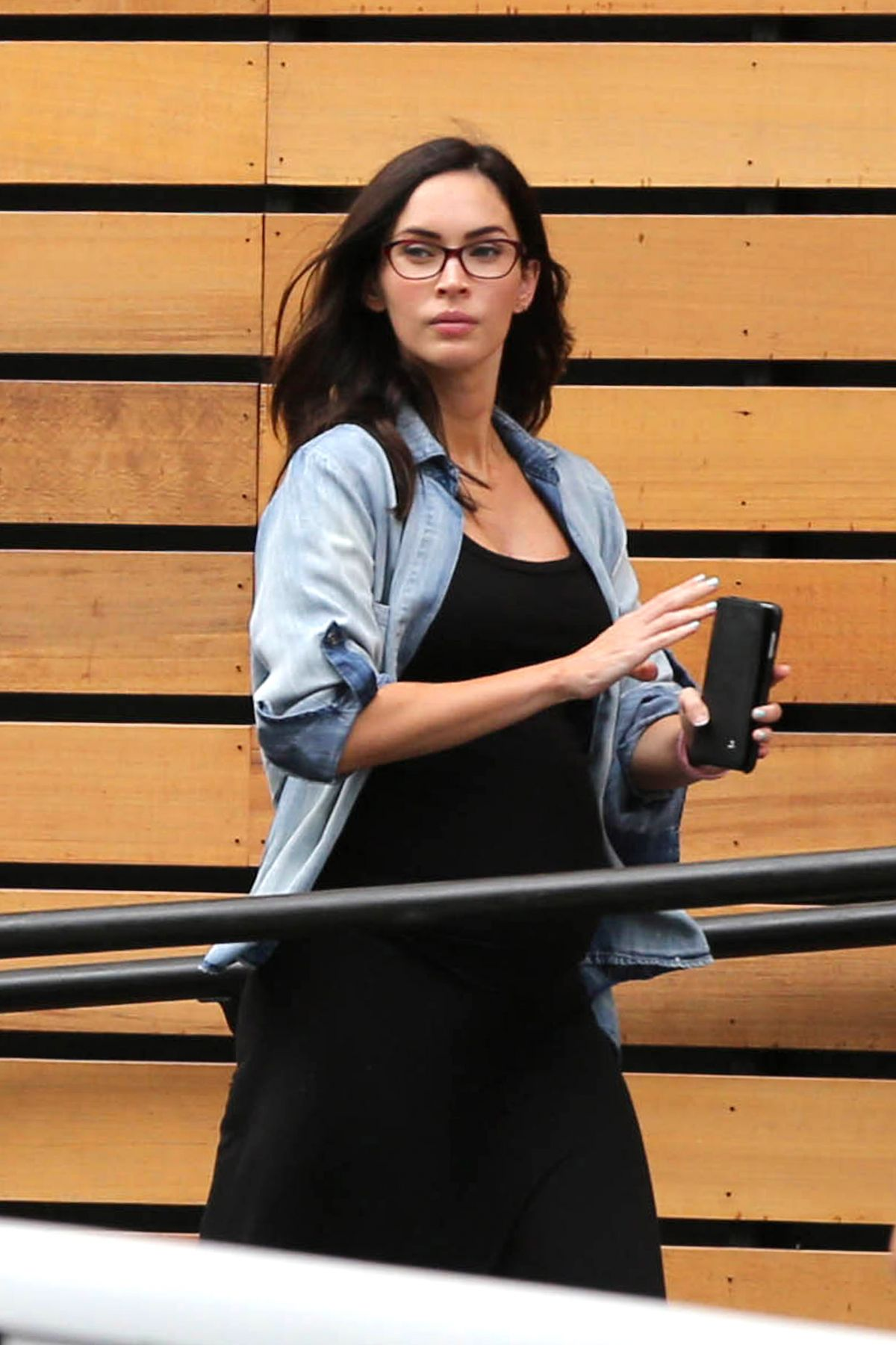 MEGAN FOX Out for Lunch in Los Angeles 05/15/2016