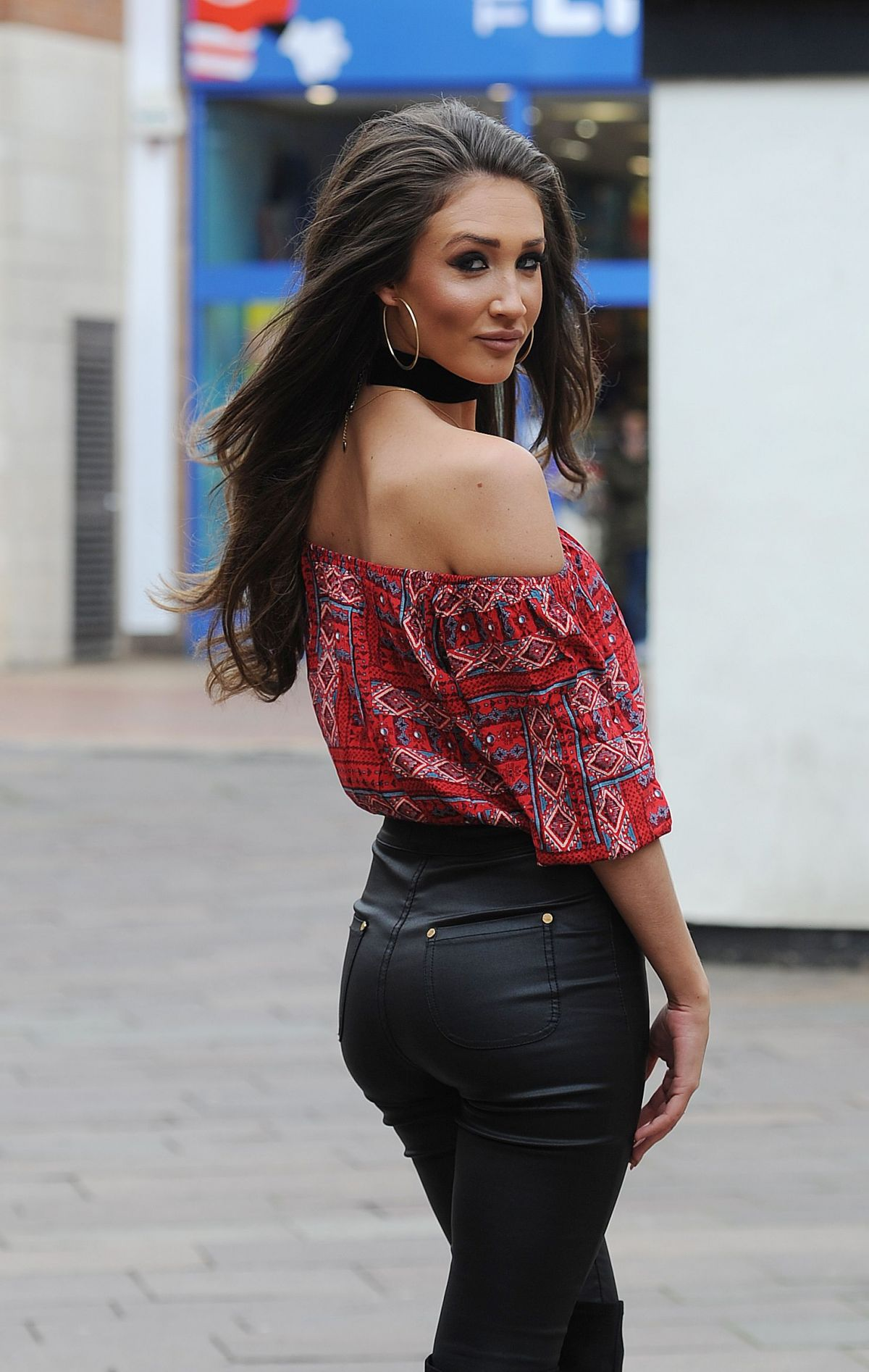MEGAN MCKENNA Out and About in London, April 2016