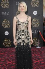 MIA WASIKOWSKA at Alice Through the Looking Glass Premiere in Hollywood 05/23/2016