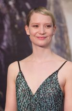 MIA WASIKOWSKA at Alice Through the Looking Glass Premiere in London 05/10/2016