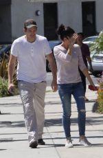 MILA KUNIS and Ashton Kutcher Shopping at Verizon in Studio City 05/02/2016