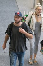 MILEY CYRUS at Airport in Brisbane 05/01/2016