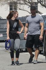 MINKA KELLY Out Exercising in Beverly Hills 05/26/2016