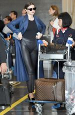MIRANDA KERR at Charles De Gaulle Airport in Paris 05/21/2016