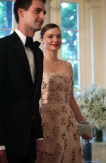 MIRANDA KERR at State Dinner with Nordic Leaders in Washington 05/13/2016