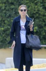 MISCHA BARTON Takes Her Dog for a Walk in Hollywood 05/10/2016