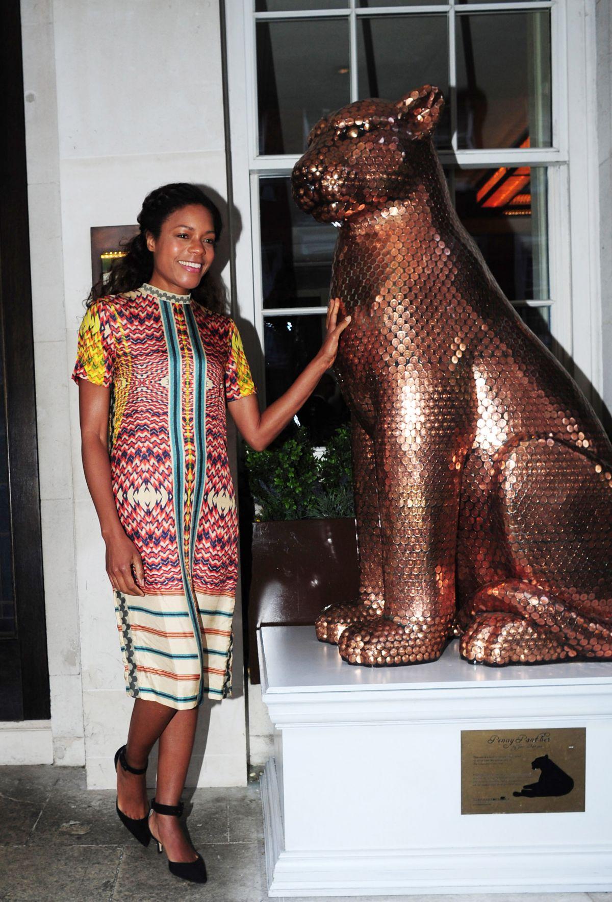 NAOMIE HARRIS Celebrates Her Birthday at 34 Restaurant in London 05/14/2016