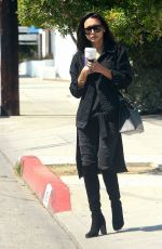 NAYA RIVERA Out and About in Hollywood 05/24/2016