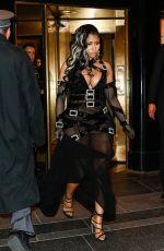 NICKI MINAJ Leaves Carlyle Hotel in New York 05/02/2016