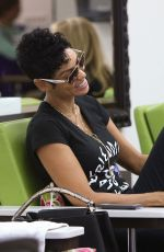 NICOLE MURPHY at a Nail Salon in Beverly Hills 05/25/2016
