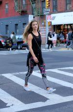 NINA AGDAL at Soul Cycle in New York 05/12/2016