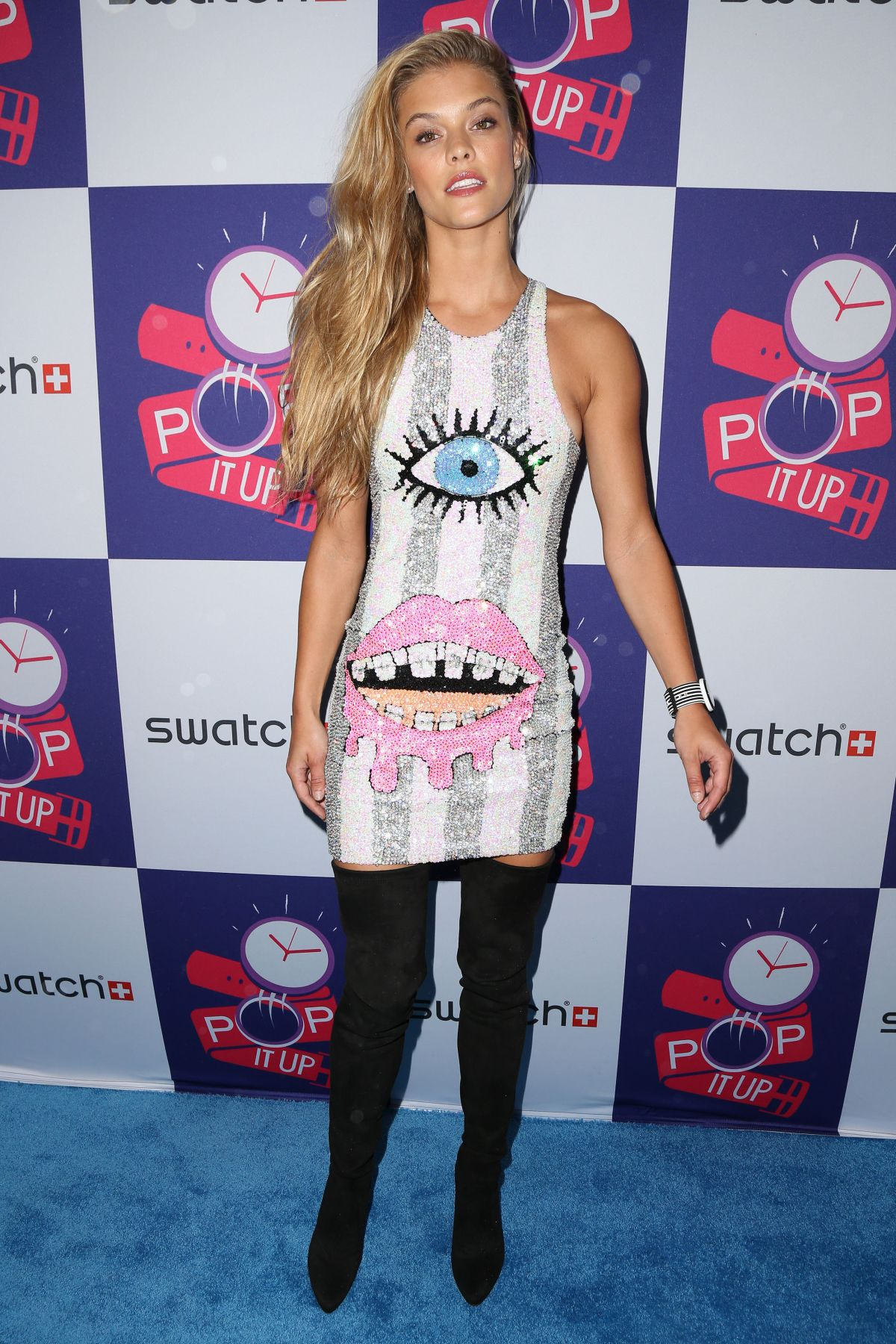 NINA AGDAL at Swatch Times Square Store Opening in New York 05/03/2016