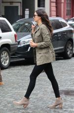 NINA DOBREV Out and About in New York 05/03/2016