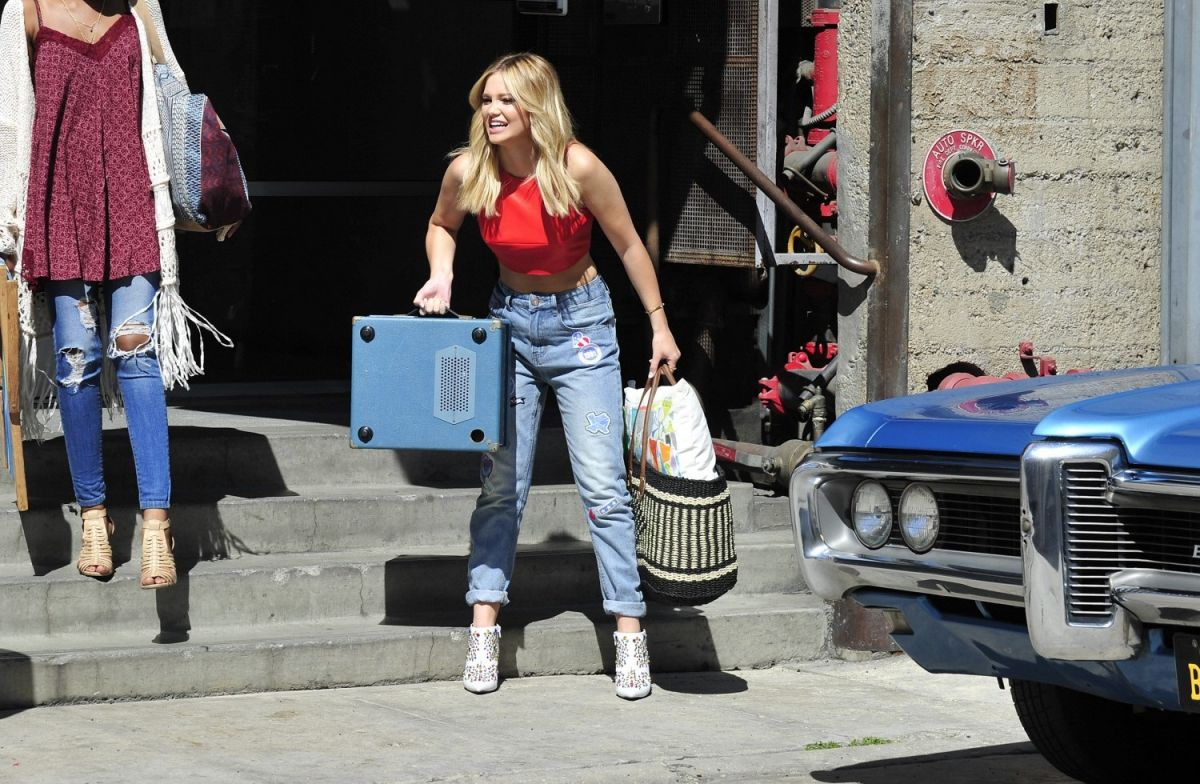 OLIVIA HOLT on the Set of a Music Video in Los Angeles 05/23/2016
