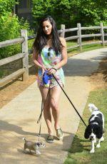 OLIVIA MUNN Walks Her Dog Out in Atlanta 05/18/2016