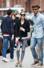 OLIVIA PALERMO Out and About in New York 05/14/2016
