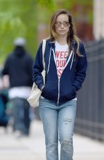 OLIVIA WILDE Out and About in New York 05/21/2016