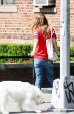 OLIVIA WILDE Walks Her Dog Out in New York 05/23/2016