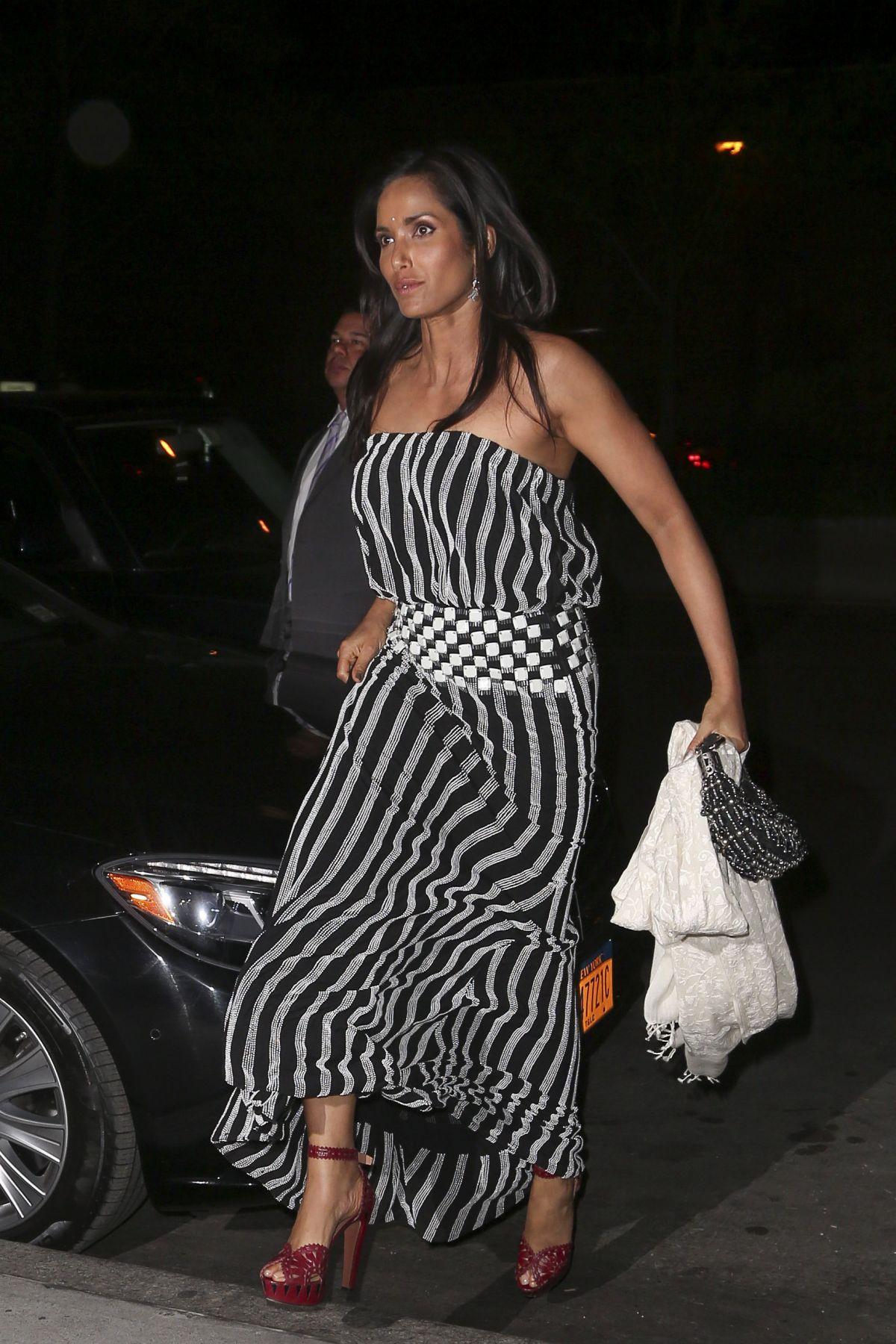 PADMA LAKSHMI Arrives at Her Apartment in New York 04/30/2016