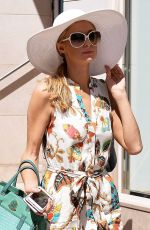 PARIS HILTON in Summer Dress Out in Cannes 05/19/2016