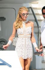 PARIS HILTON Leaves a Private Yacht in Cannes 05/17/2016