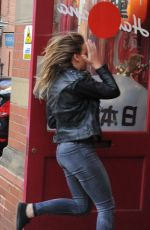 PERRIE EDWARDS Running Into Hannahhannah Restaurant in Newcastle 05/31/2016