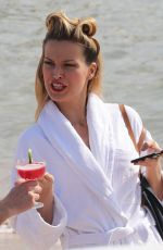 PETRA NEMCOVA in Bikini on the Set of a Photoshoot in Cannes 05/18/2016