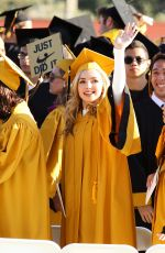 PEYTON LIST at Her High School Graduation in Oak Park 05/26/2016