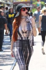 PHOEBE PRICE Shopping at The Grove in West Hollywood 05/21/2016